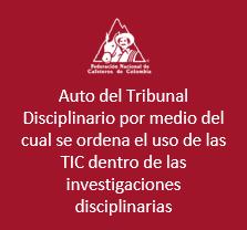 Auto del tribunal disciplinario por medio del cual se ordena el uso de las TIC dentro de las investigaciones disciplinarias