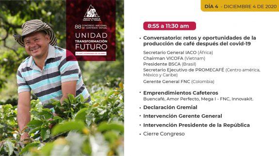 Día 4 – 88 Congreso Nacional de Cafeteros Virtual