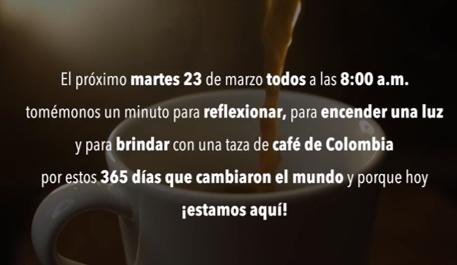 La FNC invita a todos los colombianos a unirse con una taza de café y reflexionar por este año que cambió al mundo