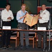 Cafeteros hacen reconocimiento al Presidente Santos por su apoyo y compromiso con el sector