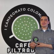 Nicolás Rico, primer Campeón Colombiano de Cafés Filtrados