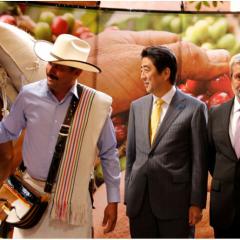 Japan's Prime Minister visits Café de Colombia