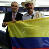 Juan Valdez presente durante la aprobación del TLC con la Unión Europea